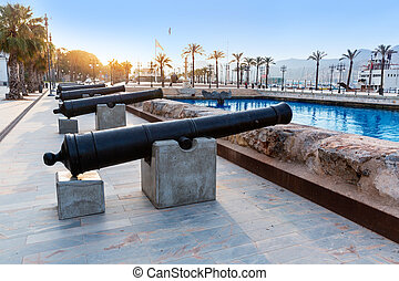 Cartagena cannon Naval museum port at Spain - Cartagena...