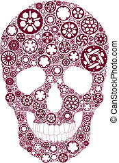 Bike gear skull - Vector skull created from bike chainrings