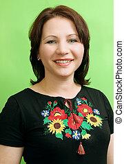 happy Ukrainian woman - Portrait of a Ukrainian woman in...