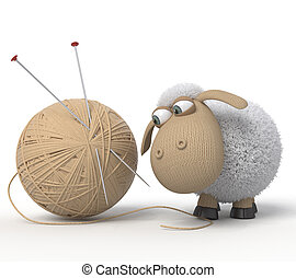 sheep, ridículo,  3D
