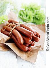 smoked sausage - shpikachki thin smoked sausage, Ukrainian...