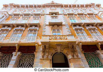 Cartagena modernist buildings in Murcia Spain - Cartagena...