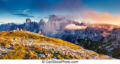 magical mountain landscape - Great view of the Cadini di...