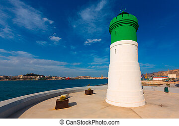 Beacon Cartagena lighthouse in Murcia Spain - Beacon...