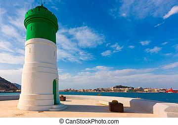 Beacon Cartagena lighthouse in Murcia Spain - Beacon...