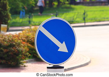 prescriptive road sign - road sign traffic obstruction on...