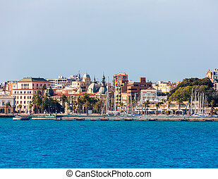 Cartagena skyline Murcia at Mediterranean Spain - Cartagena...