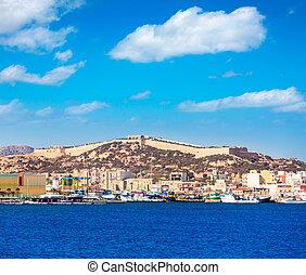 Cartagena skyline Murcia at Mediterranean Spain - Cartagena...
