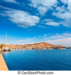 Cartagena port in Murcia at Spain Mediterranean sea