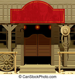 Wild West Saloon - Raster version of vector image of the...