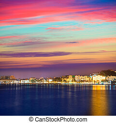 Cartagena Murcia port skyline in Spain - Cartagena Murcia...