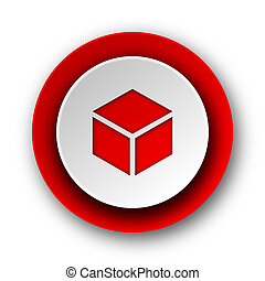 box red modern web icon on white background