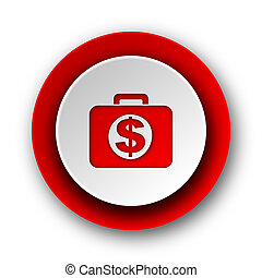 financial red modern web icon on white background
