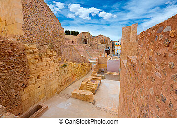Cartagena Roman Amphitheater in Murcia Spain - Cartagena...