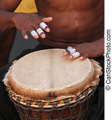 Bongo Drums - Playing Bongo Drums