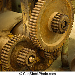 Old machinery cogs