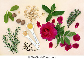 Love Potion Ingredients - Love potion ingredients with...