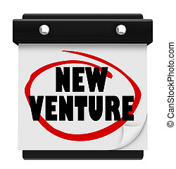 New Venture Wall Calendar Launch Reminder Business Startup -...