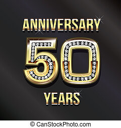 50 years anniversary greeting card