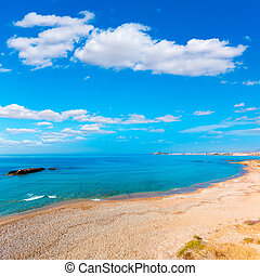 Mazarron beach in Murcia Spain at Mediterranean sea