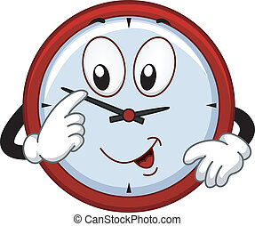 Clock Mascot - Mascot Illustration Featuring a Clock...