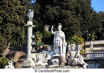 Fontana della Dea Roma - the Fontana della Dea Roma at the...