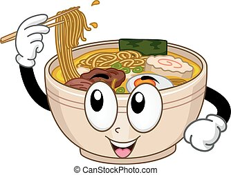 Ramen Mascot - Mascot Illustration Featuring a Bowl of Ramen