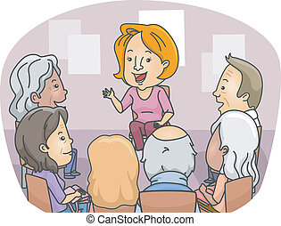 Senior Counseling - Illustration Featuring a Group of Senior...