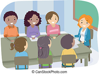 PTA Meeting - Illustration Featuring a PTA Meeting