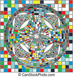 Mosaic Colorful Structure - Mosaic Colorful Urban Geometric...