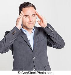 headache - Businessman having headache
