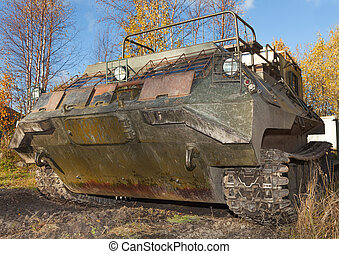 The tracked vehicle for transportation of soldiers