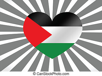 Heart and I love Gaza Strip flag idea design