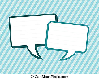 square speech bubbles