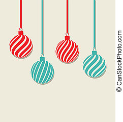 Christmas hanging balls with copy space for your text,...