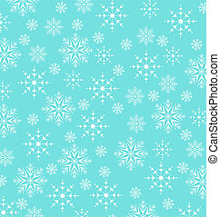 Christmas blue wallpaper, snowflakes texture - Illustration...