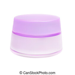 Face Cream Isolated on White Background Vector Illustrator...