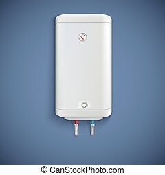 Electric water heater - Electric water heater on colored...
