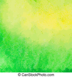 Green and yellow watercolor paint v