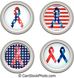 USA Buttons Ribbon