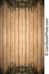Tree on Wood planks texture background wallpaper vertical...
