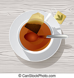 Cup of tea - Isolated raster version of vector image of a...