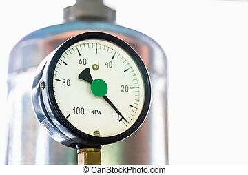Manometer in the boiler