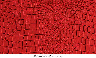 Red Leather wide screen texture and background