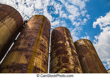 Rusty tanks - Big old deserted rusty tanks
