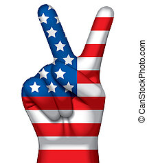 Victory sign - Isolated raster version of vector image of a...