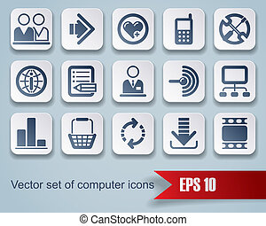 Website and internet icons - Isolated raster version of...