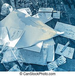 雜亂, 紙, 地方