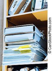 papel, Pilha, estante de livros