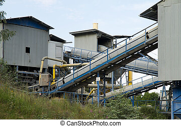 Belt conveyors in a quarry